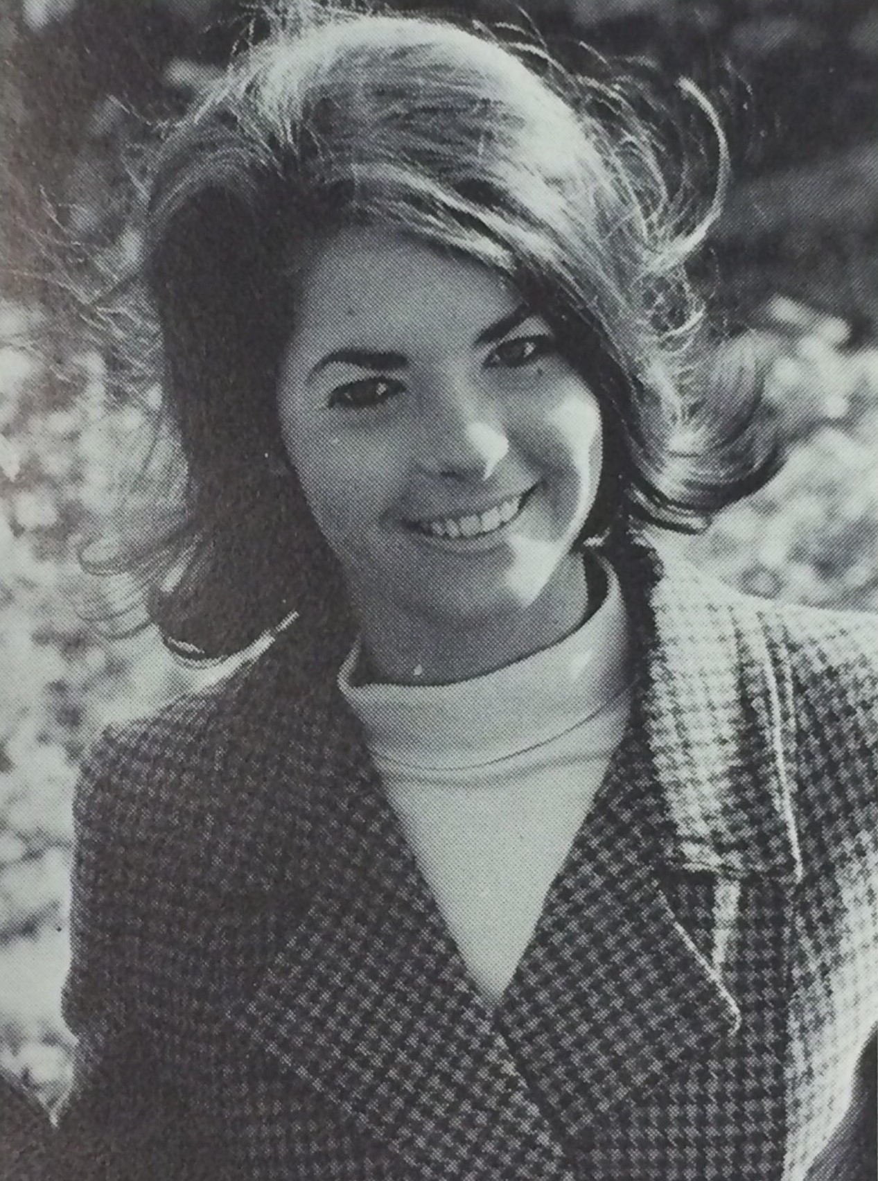 Lynn's Senior Photo in the 1968 Yearbook